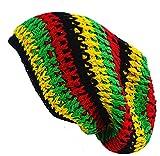 Guru-Shop, Beanie, Dread Head Cap, Nepal cap - Rasta, Multicolore, Cotone, Dimensione Indumenti:One Size, Tappi
