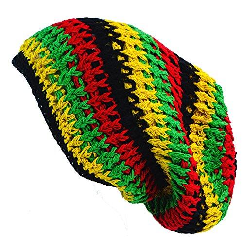 Guru-Shop Beanie, Dread Head Mütze, Nepalmütze - Rasta, Herren/Damen, Mehrfarbig, Baumwolle, Size:One Size, Mützen Alternative Bekleidung