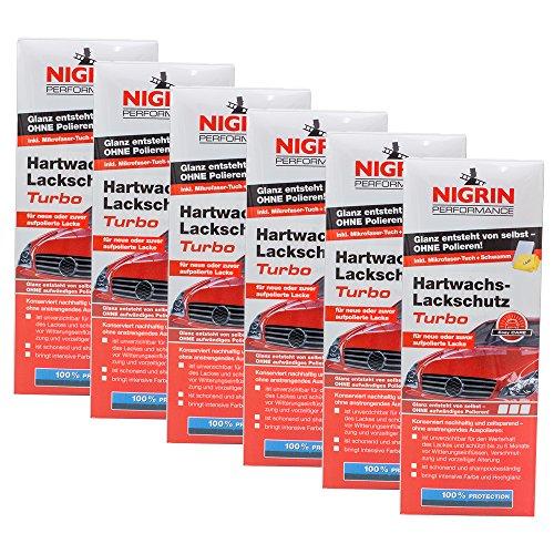 Preisvergleich Produktbild 6x NIGRIN 72962 Performance Hartwachs-Lackschutz Turbo 500 ml