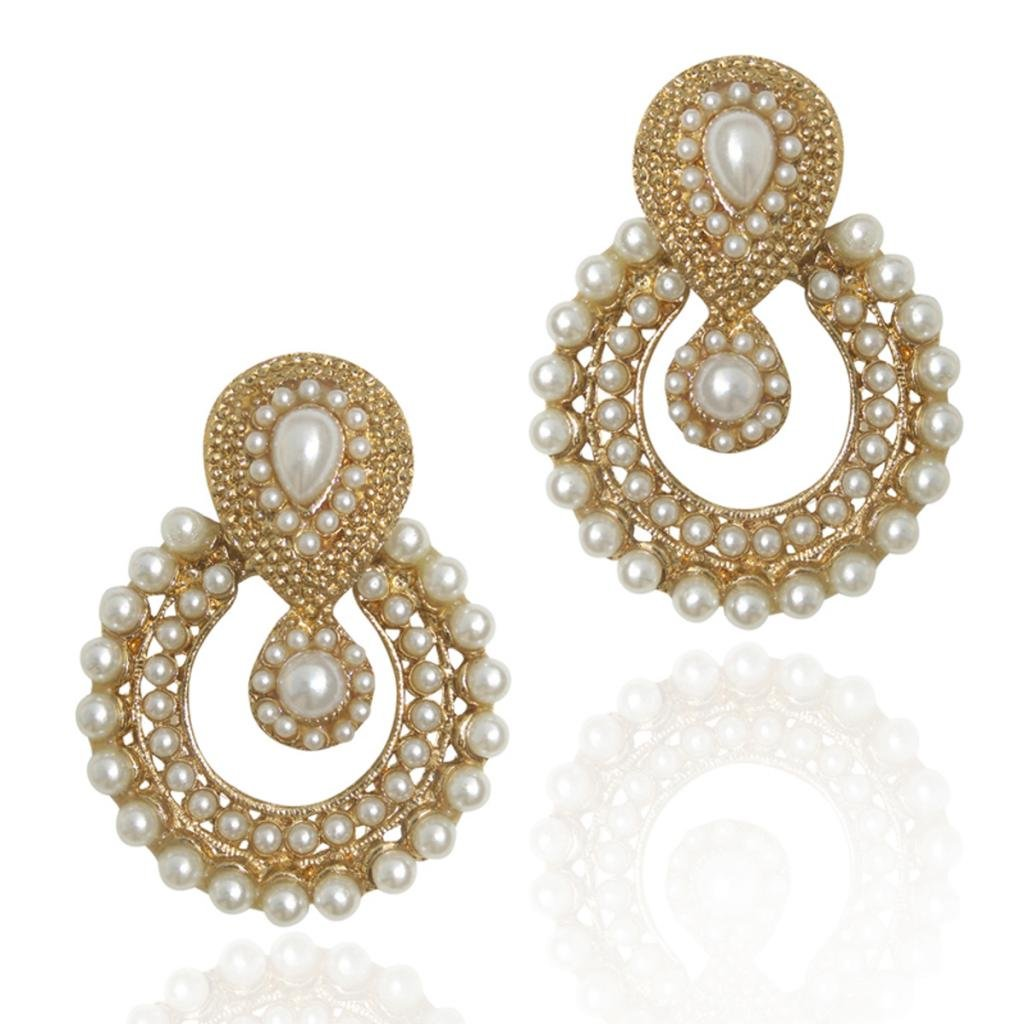 Kundans earrings for women jewellery sets imitation pearl earrings ...