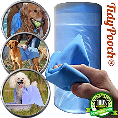 Exceptionally Absorbent Pet Drying Towel Durable Reusable Grooming Dog Horse Cloth (Medium)