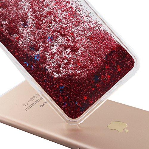 Custodia per iPhone 7 Case,Cover per iPhone 7,TOYYM - Love Heart Star Crystal Case Cover, Resistente Chiaro Trasparente [Bling Liquid] con divertente liquido flottante 3D con lussiosi glitter per iPho Color 9#