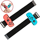 Lot de 2 Bracelets Pour Nintendo Just Dance 2021 2020 2019 Switch, Joy Con Controller Sangles de Poignet élastiques Réglables