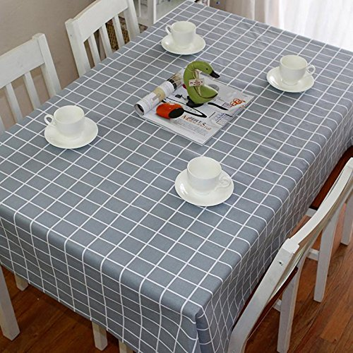 tablecloth-polyester-fabric-gray-lattice-rectangular-home-picnic-dustproof-anti-fouling-waterproof-s