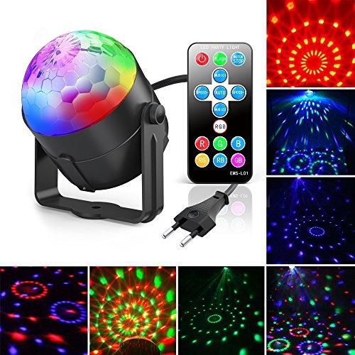 Discokugel, Gvoo LED Party Licht Disco Party Licht 7 Farbenkonbinationen aus 3 Farben, Bühnenbeleuchtung Effektlicht, für Kinder Spielzeug Geburtstag Urlaub Party Zubehör