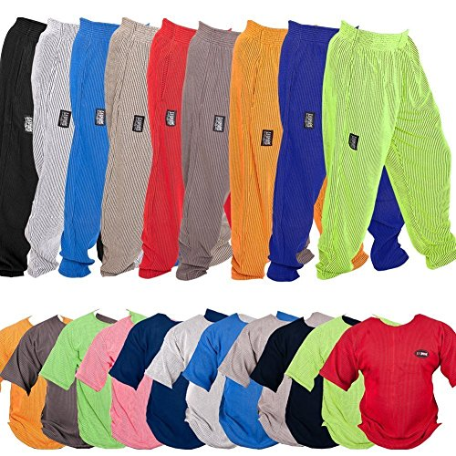 C.P.Sports Fitnessbekleidung, Bodybuilding Kleidung, Traininghose Body Pant Bodybuilding Fitnesshose Jogginghose, Fitness Shirt, Bodybuilding Shirt, Trainings Shirt in 11 versch. Farben S, M, L, XL, X Blau-Shirt