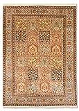 Morgenland Seidenteppich Kaschmir Reine Seide 182 x 127 cm Handgeknüpft