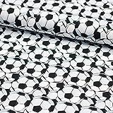 Stoff Jersey Baumwolljersey Fußball Ball - Meterware -