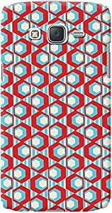 Kasemantra Geometric Pattern Case For Galaxy J7