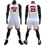Chico Hombre NBA Michael Jordan # 23 Chicago Bulls Retro Pantalones Cortos de Baloncesto Camisetas de Verano Uniformes y Tops