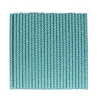tecmac Eco-Friendly and Disposable White - Aqua Blue Zigzag Paper Straws | 6 mm | 50 Pieces