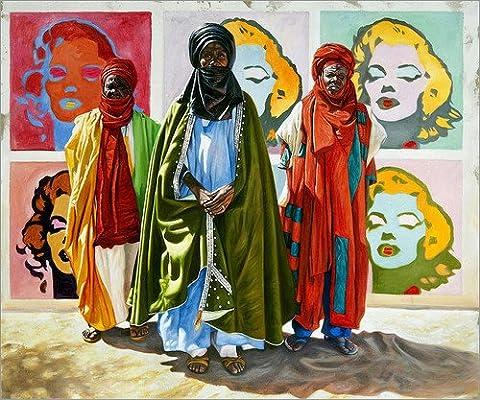 Holzbild 70 x 60 cm: All we need is love von Ali Hassoun (Lichtenstein Moderne Malerei)