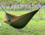 AUGYMER Camping Hammock, Double Portable Lightweight 2 Person Parachute Hammock with Tree Straps Up 600lb Nylon Rope Hammocks Swing for Hiking Travel Backpacking Beach Yard