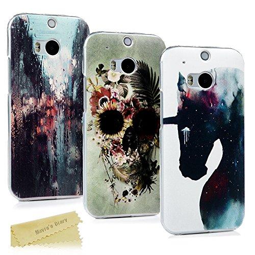 HTC One M8 Hülle Mavis's Diary 3x Case PC Plastik Hardcase Back Cover Tasche Schutzhülle Anti-Scratch Telefon-Kasten Handyhülle Handycover Bumper Fall Euit (Htc One M8 Case Mit Armband)