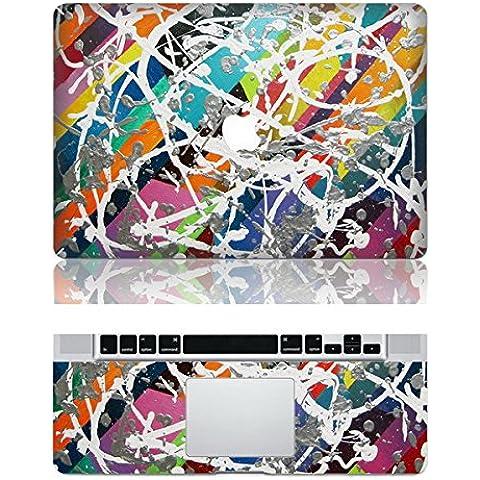 Vati fogli smontabili Graffiti protettiva copertura completa di arte del vinile Decal Sticker Cover per Apple MacBook Air 13.3