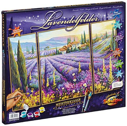 Schipper 609260604 - Malen nach Zahlen - Lavendelfelder (Triptychon) 50x80cm