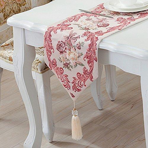 Kanqingqing Tischläufer Tischdecke Moderne einfache Tabelle Tischfahne Chenille Streifen Tuch Kunst Kaffee Dekoration Tischdecke gelten Familie Dekoration (Deckchen Für Kommoden)