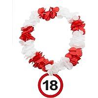 Folat 63520 Hawaiikette, rot/weiß
