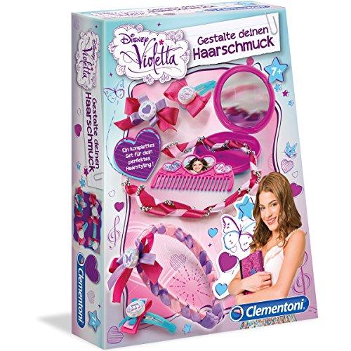 Disney Violetta - Gestalte deinen Haarschmuck, Spiegel, Perlen, Haarspange | Mode Haar Schmuck Kamm Bastel Set Kinder