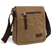 E-Bestar Herren Canvas Tasche Vintage Canvas Handtasche Schultertasche Ideal für Büro Canvas Retro Tasche für ipad…