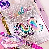 A5 1 DASHBOARD Handmade Olografica di Rainbow l'unicorno per agende planner A5 Edizione Limitata