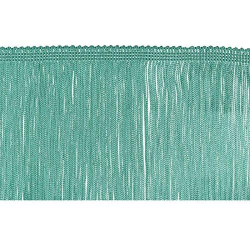 Aqua Tanz Kostüm - Dekorative Besätze 100% Rayon Chainette Fransen, 15,2cm X 9YD, Aqua