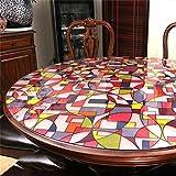 Nappe-de-table-ronde-PVC-impermable-Scrub-Verre-doux-Transparent-Table-Mat-Crystal-Plate-Htel-Table-Tissu-Tapis-en-plastique-couleur-N--2-taille-130cm