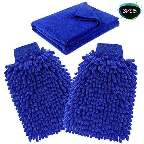 Guante y toalla de lavado del coche HiKeep Chenille limpieza del coche