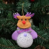 lulalula Christmas Ornaments Shining Doll Kids Gift Toy Doll Lights up Singning Christmas Decorations Home Ornament