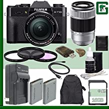 Fujifilm X-T10 Mirrorless Digital Camera With 18-55mm Lens (Black) + Fujifilm XC 50-230mm F/4.5-6.7 OIS Lens (Silver) + 16GB Green's Camera Bundle 2