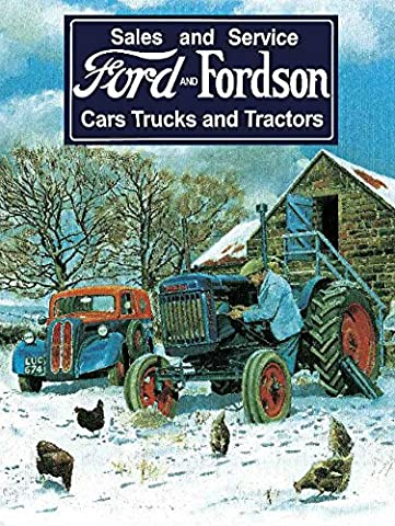 Metal Sign - Ford and fordson Sales & service Plaque métal - Metal Sign - XXX15548 - S (15 x 20 cm)