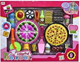 #10: Emob Yummy Pizza Cooking and Cutting Tableware Toy Set with Multicolor Accessories for Kids