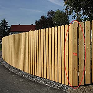 Gartenwelt Riegelsberger 10 Stück Zaunlatte aus Lärchenholz, Höhe 100 cm, Typ A 20x95 mm, sibirische Lärche, Oben Abgerundet