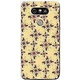 Fancy A Snuggle Violet Crème étoile et fleur Patterns téléphone Housse/Coque rigide pour téléphone portable LG, plastique, Multiple Star Bursts, LG G5 (H850)