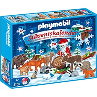 Playmobil 4155 – Calendario de adviento, diseño de Papá Noel con Animales