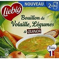 Liebig Bouillon de volaille, légumes & quinoa Les 2 briques de 30cl, soit 60cl - Prix Unitaire - Livraison Gratuit...