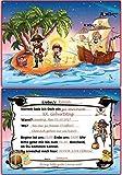 Kindergeburtstag Einladungskarten Pirat Einladungen Geburtstagseinladungen Kinder - 10 Stück Schatzsuche Schatzkarte