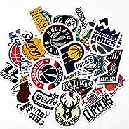 30 NBA Stickers Basketball Team Logo Set. All 30 Teams. Plus 10 More. Die Cut. Lakers Bulls Heat Warriors Celt