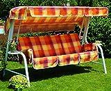 Hollywoodschaukel, Gartenschaukel mit imbottiturae rivestiento Schottische, Hollywoodschaukel 4-Sitzer, Schaukel