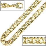Halskette Damen 14 Karat (585) Gelbgold Länge ca. 45 cm Karabinerverschluss 5.2 mm