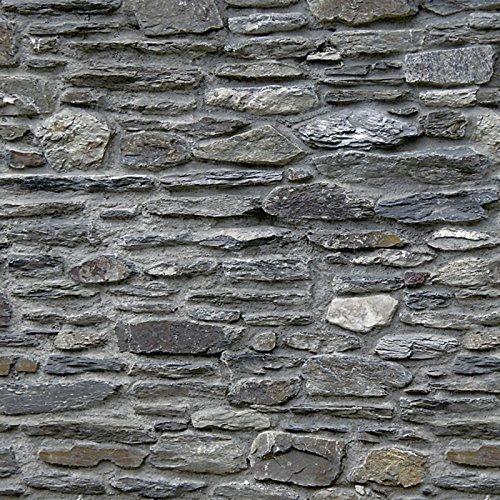 Artland Küchenrück-Wand Spritzschutz Hightech-Aluminium-Verbundplatten Lieb Schiefermauer Architektur Architektonische Elemente Fotografie Grau A7LJ (Architektur Wand)