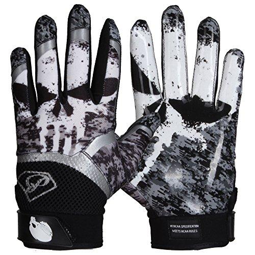 Prostyle Alien Skull American Football Handschuhe - Weiß Gr. S