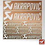 Brett 12Sticker Aufkleber Akrapovic Auspuff Anlage–Kupfer–Sticker, selbstklebend, Motorrad, Bike, Kit, Deco, Tuning, Decal, gt-design, GT Design, gtdesign