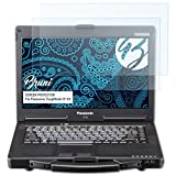 Bruni Schutzfolie für Panasonic ToughBook CF-53 Folie, glasklare Bildschirmschutzfolie (2X)