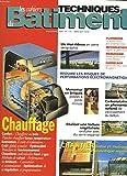 LES CAHIERS TECHNIQUES DU BATIMENT N°175, NOVEMBRE 1996. CHAUFFAGE / UN MUR RIDEAU EN VERRE SERIGRAPHIE / REDUIRE LES RISUES DE PERTURBATIONS ELECROMAGNETIQUES / MONOMUR EN BRIQUES / CARBONATATION / TOITURE VEGETALISEE / ...