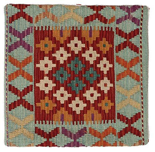 WR Home Decore Housses de Coussin Authentiques Faites à la Main Motif Kilim 45 x 45 cm