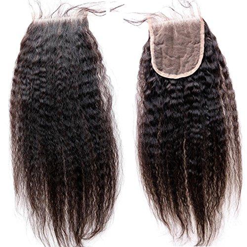 Eseewigs Meilleur Remy Hair Coudre en fermeture 4x4 pouces Yaki cheveux raides brésilien dentelle Top Fermetures