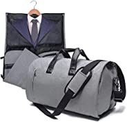 Carry On Suit Garment Bag for Travel & Business Carrier Luggage Cover Duffel Bag with Shoe Pouch (Grey)