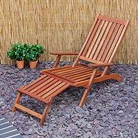 Generic qy-uk4–16feb-20–57* 1* * 2057* * pieghevole in legno duro patio, giardino, patio, giardino, Foldi sedia sdraio K Piroscafo Teamer sedia a sdraio