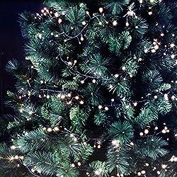 Lichterkette mit 171 LEDs warmweiß für Tannenbäume bis 180cm / Innen & Außen